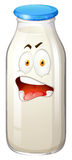 Bottle of milk emoticon Royalty Free Stock Images