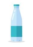 Bottle with Milk Flat Style Vector Illustration Stock Photo