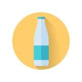 Bottle with Milk Flat Style Vector Illustration Stock Image