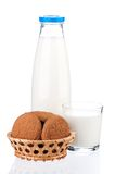 Bottle of milk Royalty Free Stock Photography