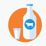 Bottle of milk isolated Royalty Free Stock Image