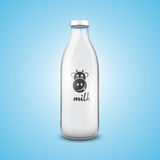 Bottle of milk Royalty Free Stock Images