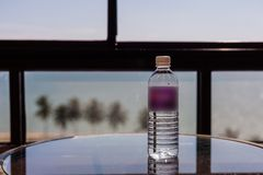 Mineral water at the table royalty free stock images