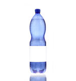 Bottle of mineral water,wet. Royalty Free Stock Photo