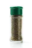 Bottle Of Mixed Herbs Stock Photography