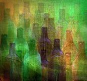 bottle modellen stock illustrationer