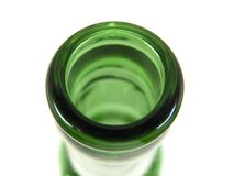 Bottle Mouth. Glass bottle mouth stock image