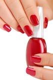 Bottle of nail polish Royalty Free Stock Photo