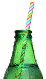 Bottle Neck with Straw Royalty Free Stock Photos
