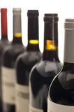 Bottle necks, row of wine bottles Royalty Free Stock Image