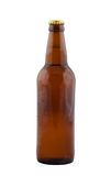 Bottle Of Beer Isolated On White. Royalty Free Stock Photo