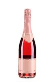 Bottle Of Champagne With Pink Top. Royalty Free Stock Photos