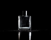 Free Bottle Of Perfume On Black Royalty Free Stock Photography - 56992557