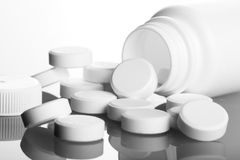 Bottle Of Pills Stock Photography