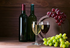 Bottle Of Vine Royalty Free Stock Photo