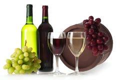 Bottle Of Vine Stock Photo