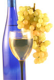 Bottle Of Wine, Glass,grapes. Royalty Free Stock Image