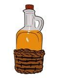 Bottle of oil Stock Images