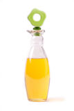 Bottle with oil. A photo of a bottle with olive oil Royalty Free Stock Photos