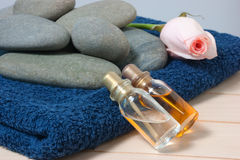 Bottle with oil and aroma Royalty Free Stock Photography