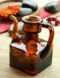 Bottle with oil, aromatherapy Royalty Free Stock Photography