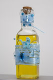 Bottle with oil for christening. Bottle with oil to anoint the baptized child royalty free stock images