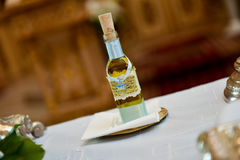 Bottle with oil Royalty Free Stock Photo