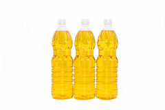 Bottle of oil Isolate on background Royalty Free Stock Images
