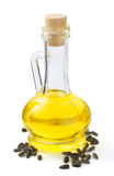 Bottle of oil isolated at white. Background Stock Image