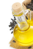Bottle of oil isolated at white. Background Royalty Free Stock Photo