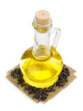 Bottle of oil isolated at white Royalty Free Stock Photography