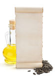 Bottle of oil isolated at white. Background Royalty Free Stock Photography