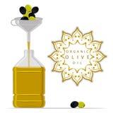 bottle oil olive 免版税图库摄影