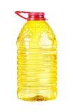 Bottle oil plastic big on white Stock Photo