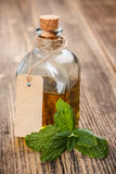 Bottle with oil Stock Image