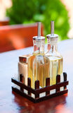Bottle with oil and vinegar_2 Stock Photo