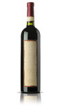 Bottle of old wine  on white Royalty Free Stock Photography
