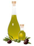 Bottle with olive oil Royalty Free Stock Images