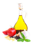 A bottle of  olive oil Royalty Free Stock Photography
