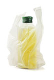 Bottle Of Olive Oil In Plastic Bag Stock Photography
