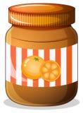 A bottle of orange jam Stock Photos