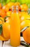 Bottle of orange juice Royalty Free Stock Photo