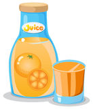 A bottle of orange juice. Illustration of a bottle of orange juice on a white background Vector Illustration