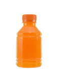 Bottle of orange juice Stock Photos