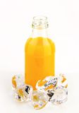Bottle of orange juice Royalty Free Stock Image