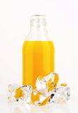 Bottle of orange juice Royalty Free Stock Photos