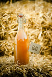 A bottle of organic natural homemade juice Royalty Free Stock Photo