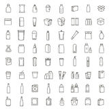 Bottle, packaging collection - vector Royalty Free Stock Image