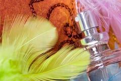 Bottle of parfum royalty free stock photography