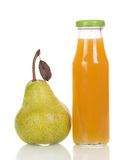 Bottle of pear juice Stock Photo